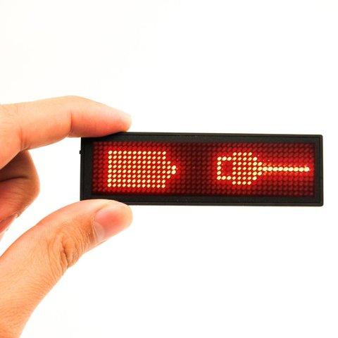 LED-бейдж (92 x 27 x 7 мм, червоний) Прев'ю 1